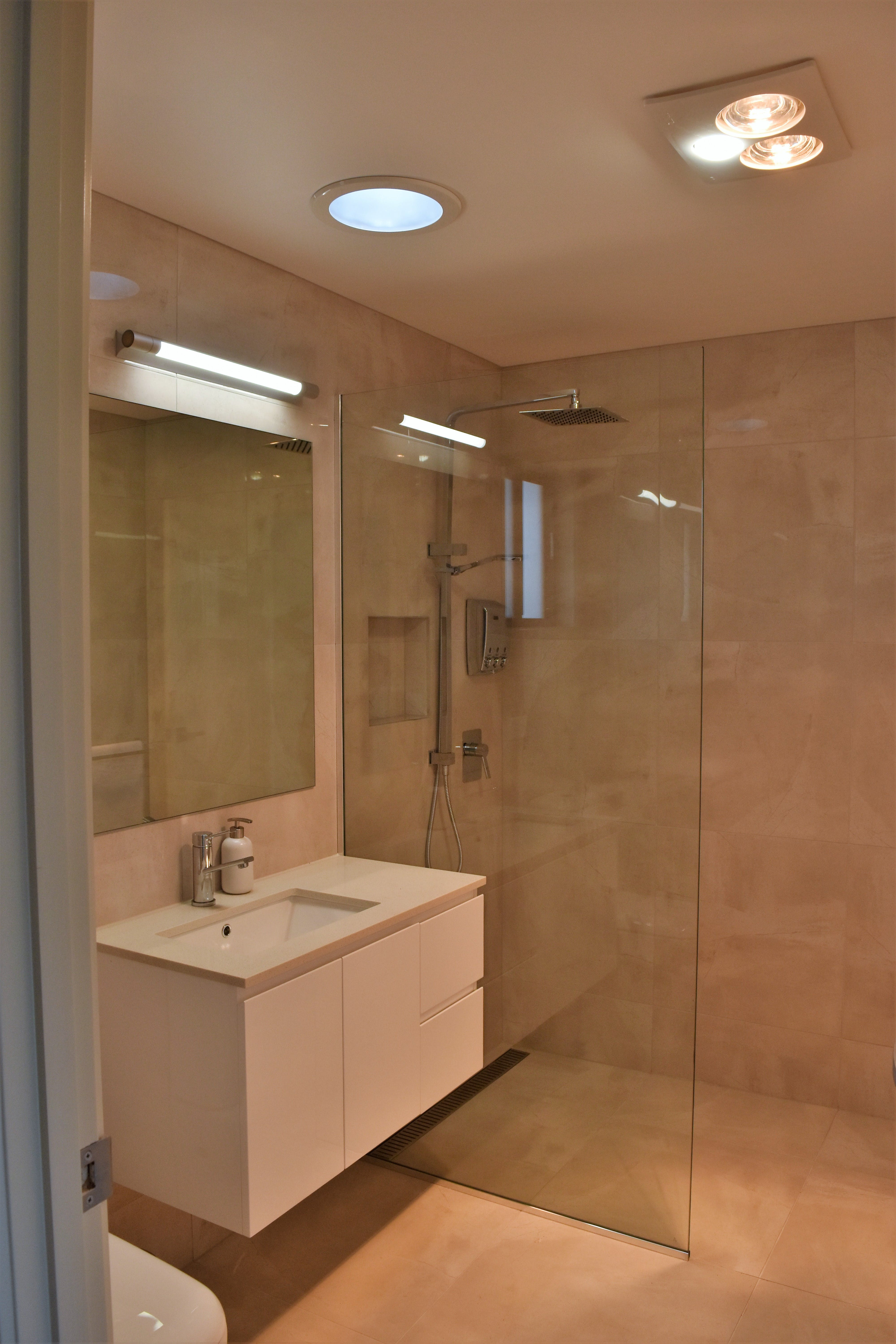 Each room has a private ensuite with large shower. Hairdryer, shampoo, conditioner and body wash provided.