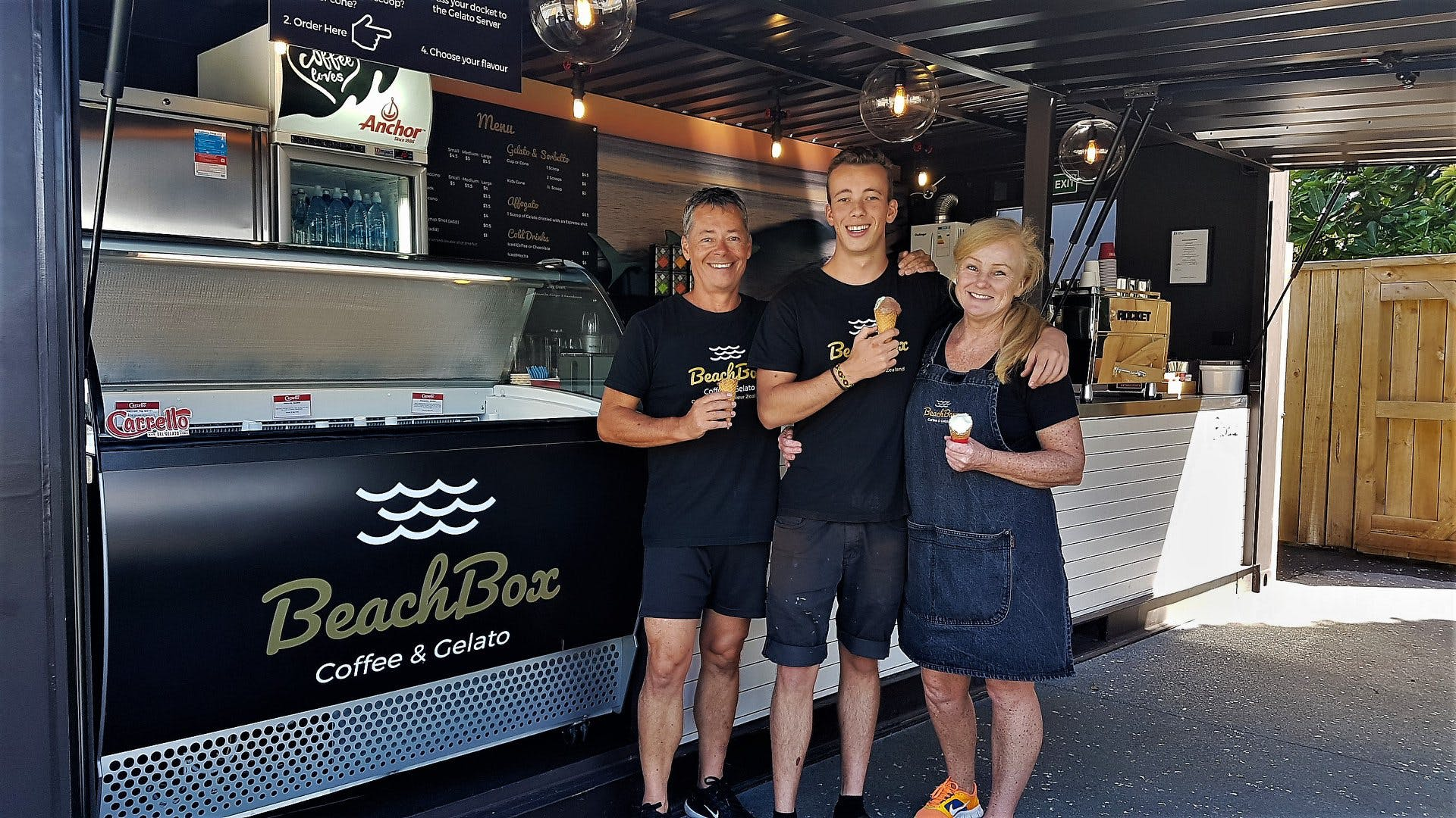 The team at BeachBox Coffee & Gelato, Coopers Beach