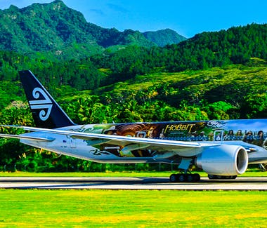 Air NZ arrival in Rarotonga