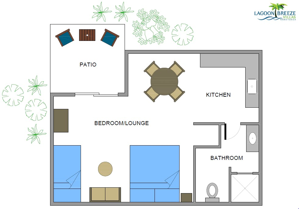 Garden Studio room layout