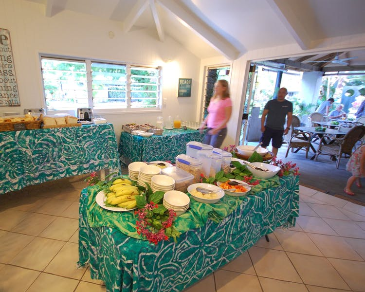Tropical Breakfast Setup