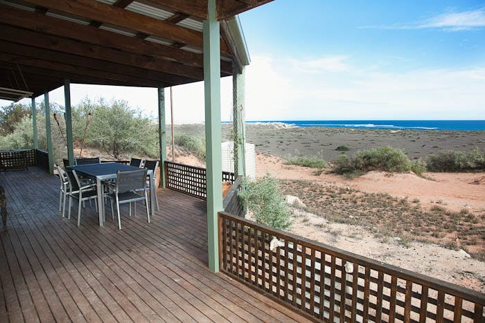 Warroora - Dudley Hill ocean view, outdoor area and , fire pit.