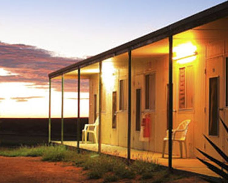 Warroora - Shearers Quarters at sunset.