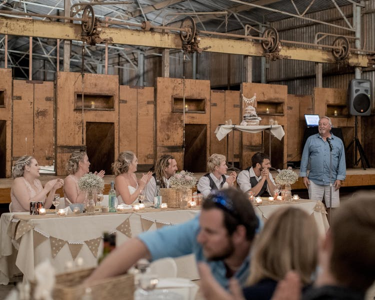 Warroora - The Shearers shed. Ideal party and wedding venue.