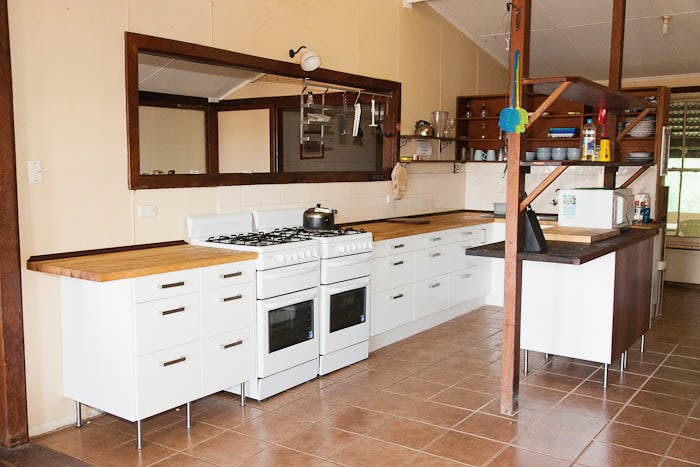 Warroora - The Homestead kitchen ideal for big group.
