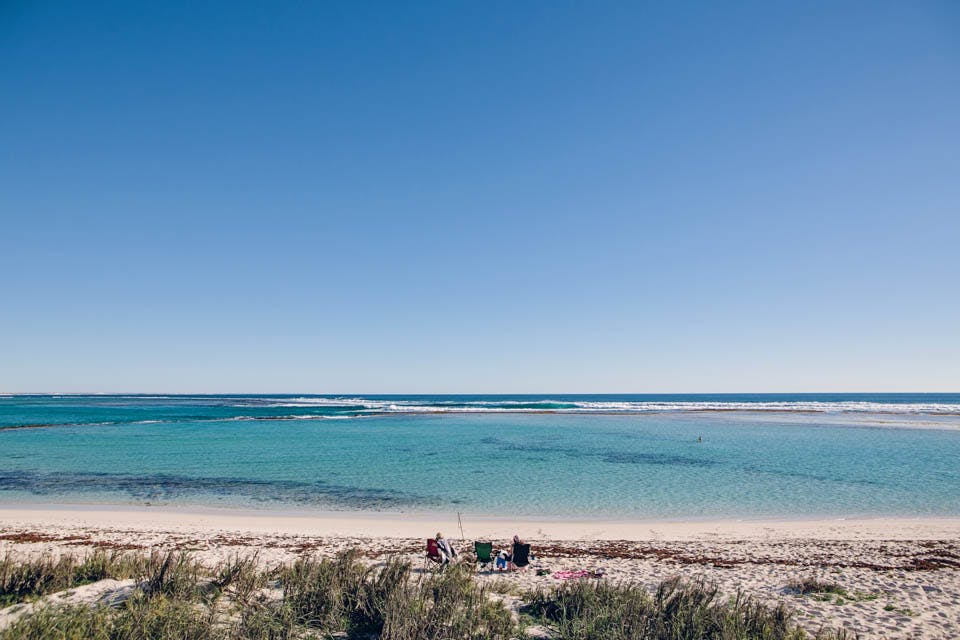 Warroora - Stevens beach and campsites.