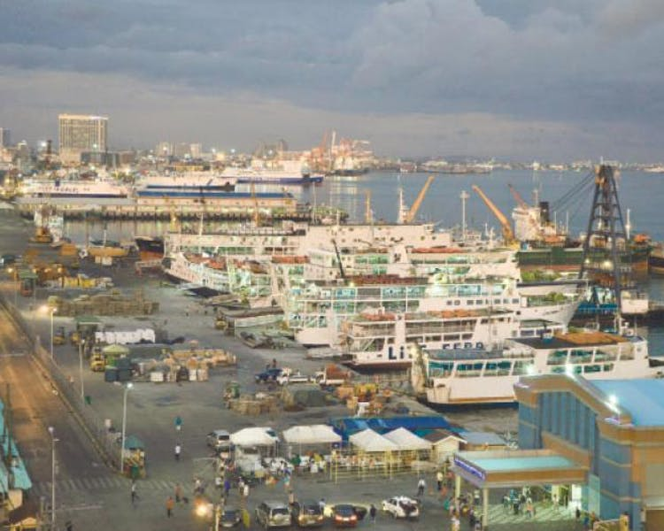 Port of Cebu where all boats reside.