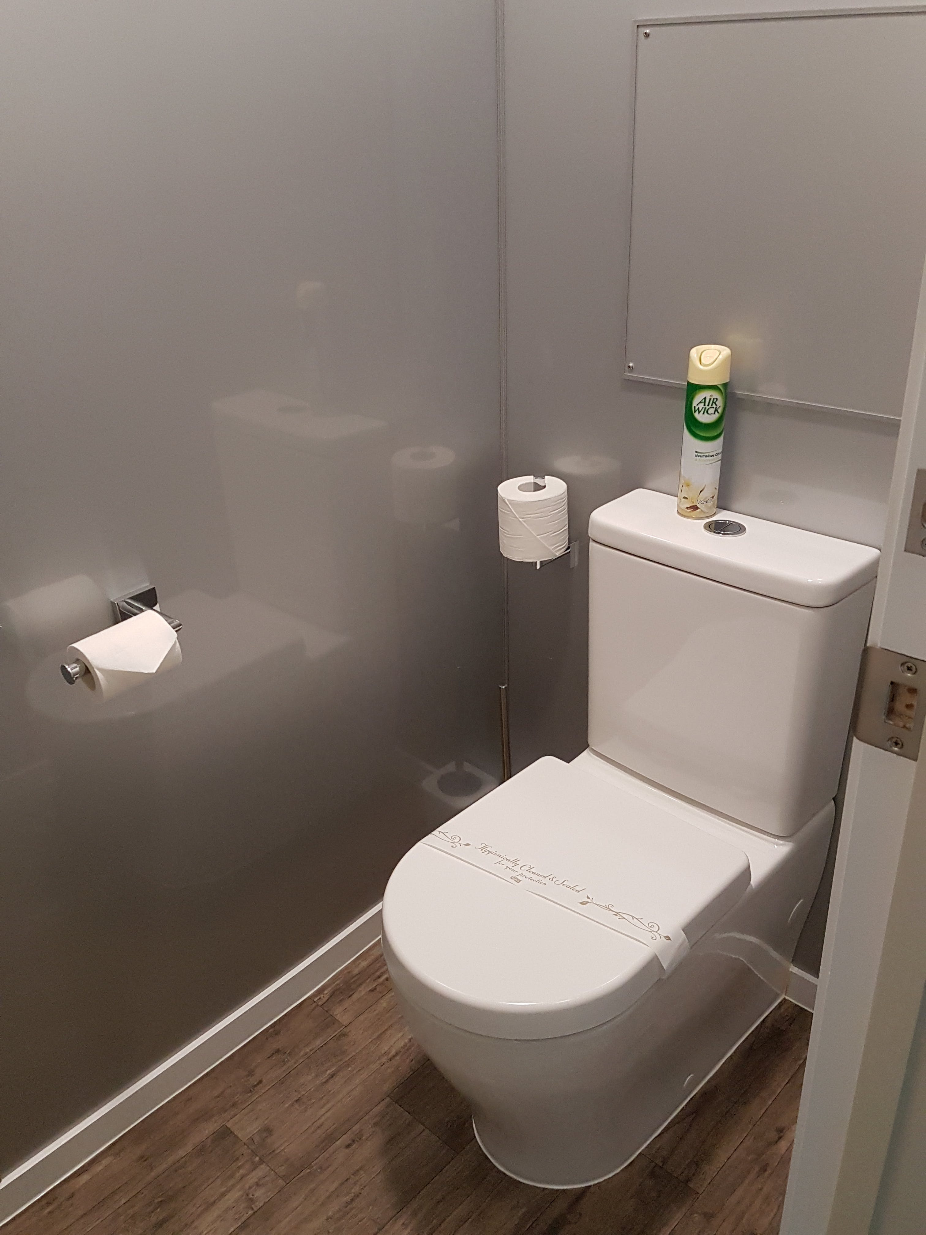 Separate toilet in most apartments