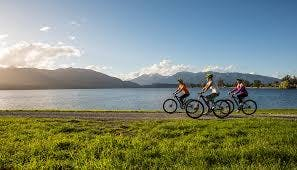 Biking Te Anau tracks