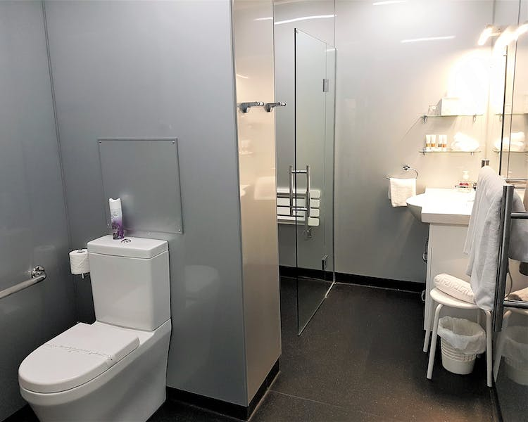 Access apartment bathroom
