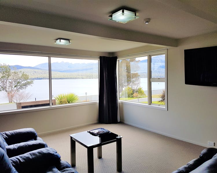 Upstairs 2 bedroom lounge.  The best views in the house!
