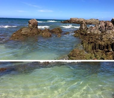 Playa Conchal's crystal clear water