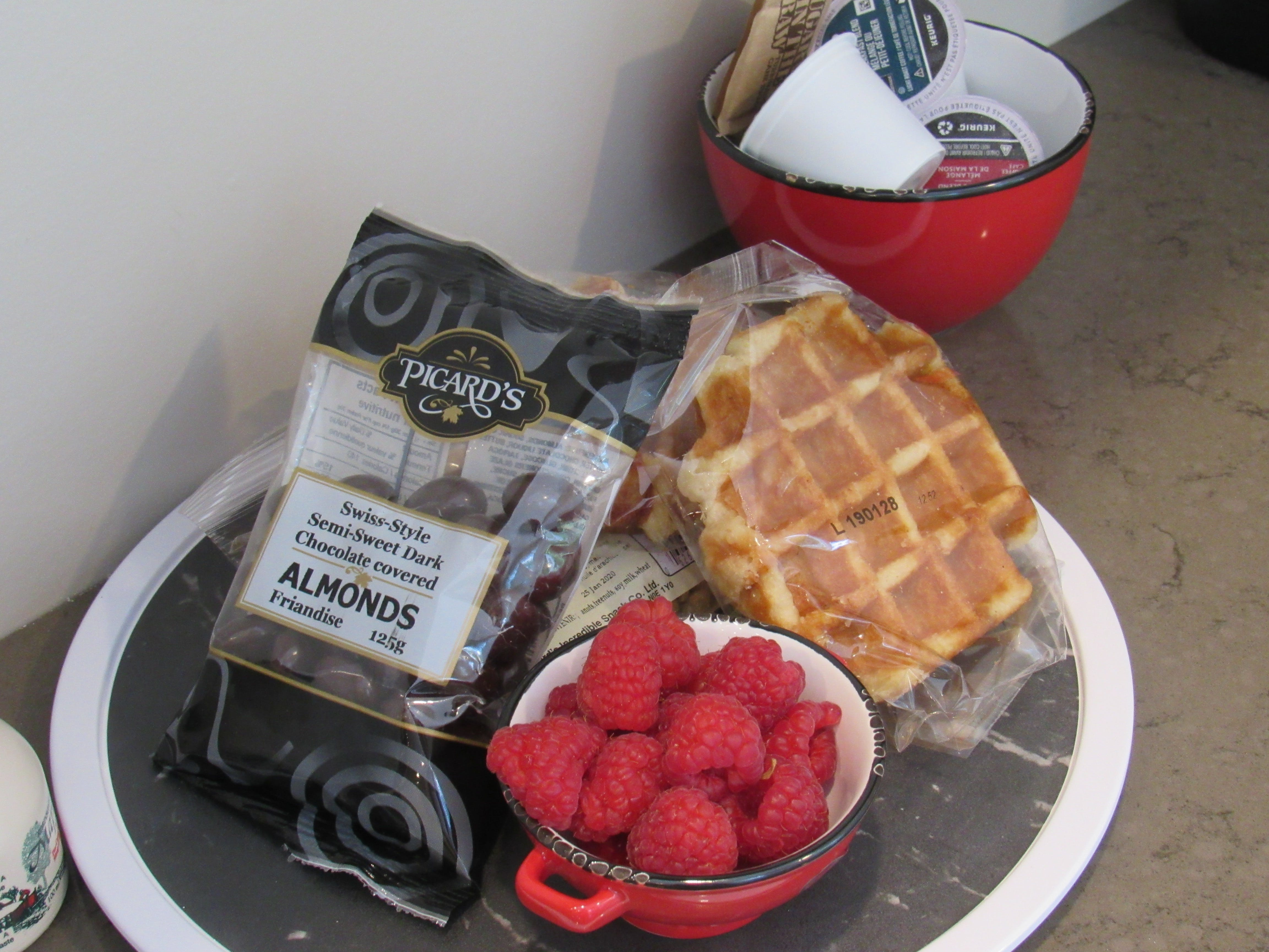 St Jacobs Suite - welcome package includes treats from Picard's peanuts.