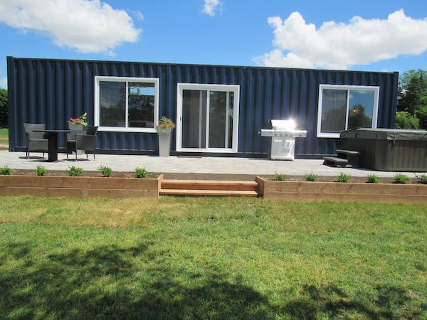 The Elora Suite - Exterior includes stainless steel BBQ