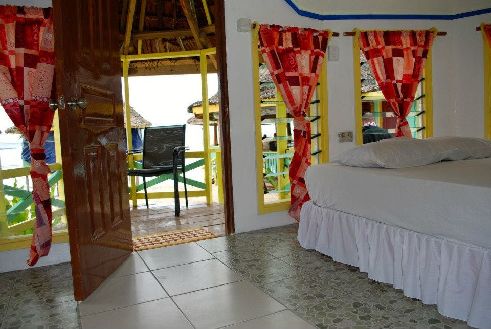 Sleeping area in Beach Enclosed En-suite fale