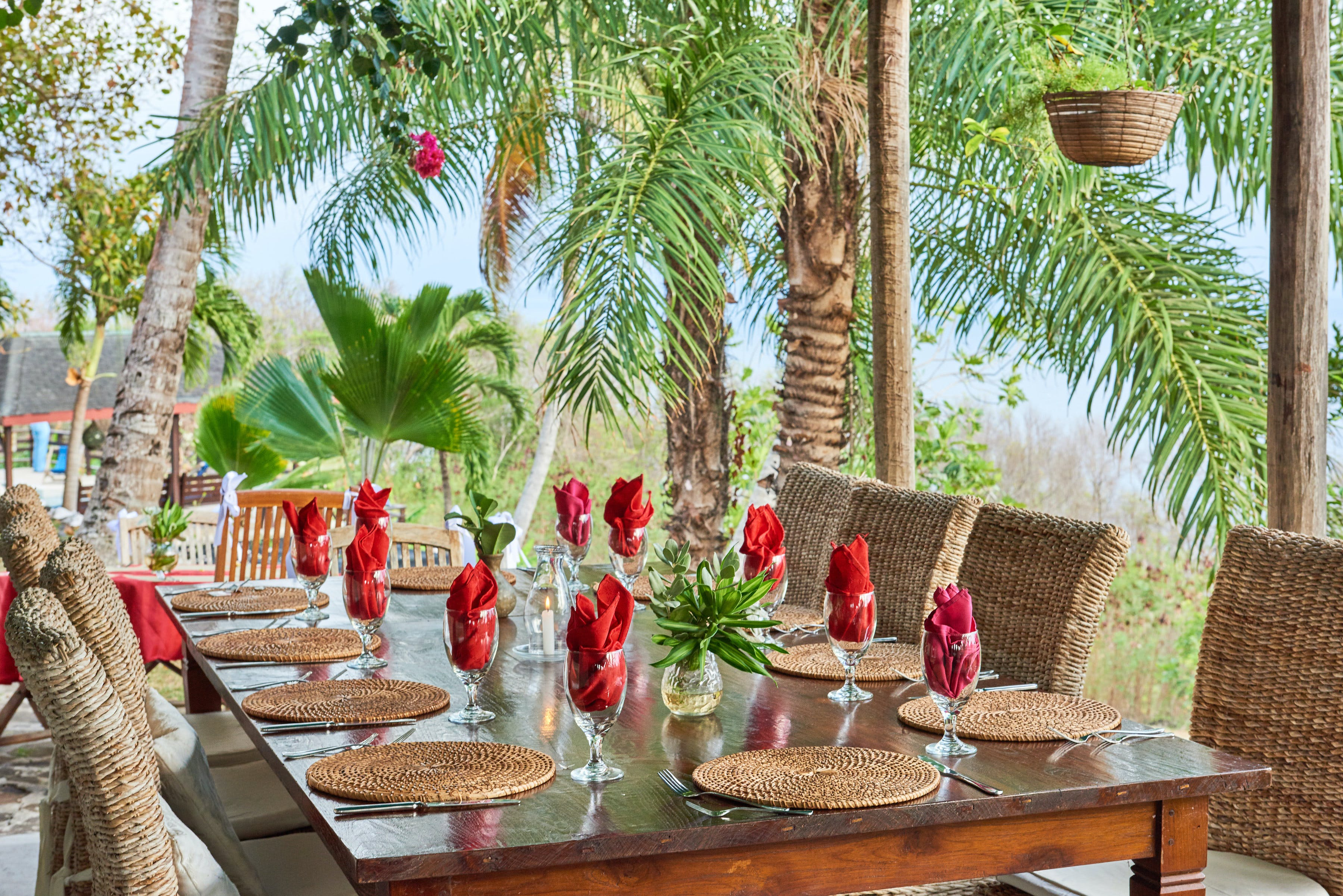 Special Dining at Rental Villa, The Old Fort Bequia