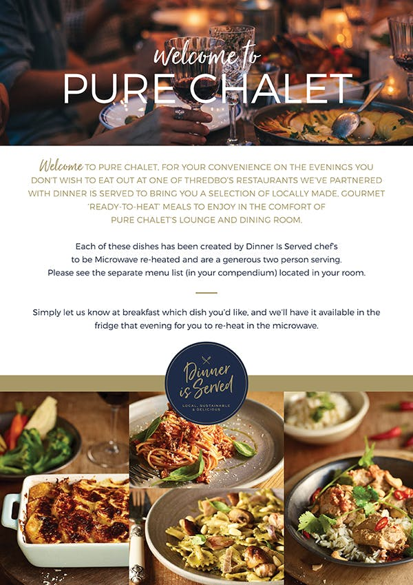 Dinner is Served in partnership with Pure Chalet