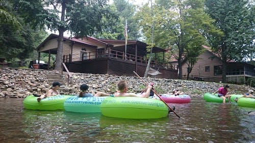 Enjoy tubing on the river