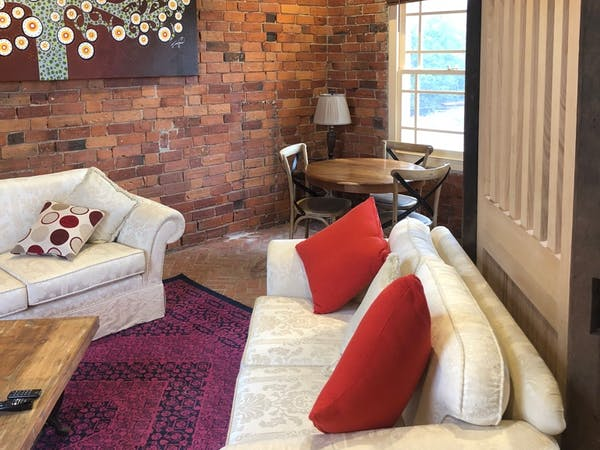 Stables Apartment living roomr, Bon Accord B&B in Sale, Gippsland.