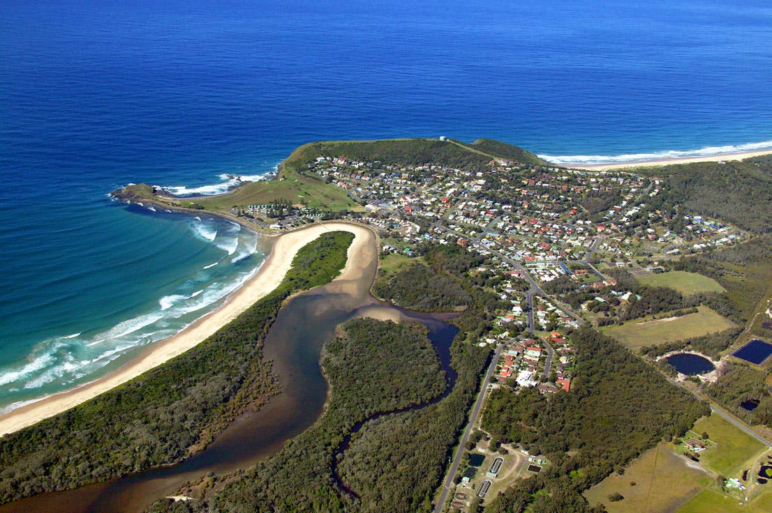 Crescent Head showing Killick Creek.