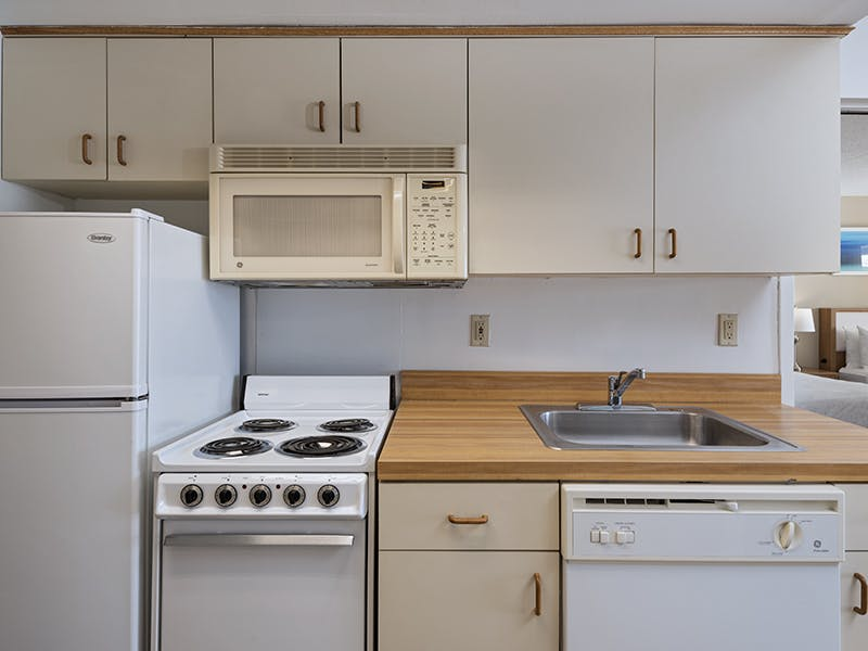 One bedroom suite kitchenette