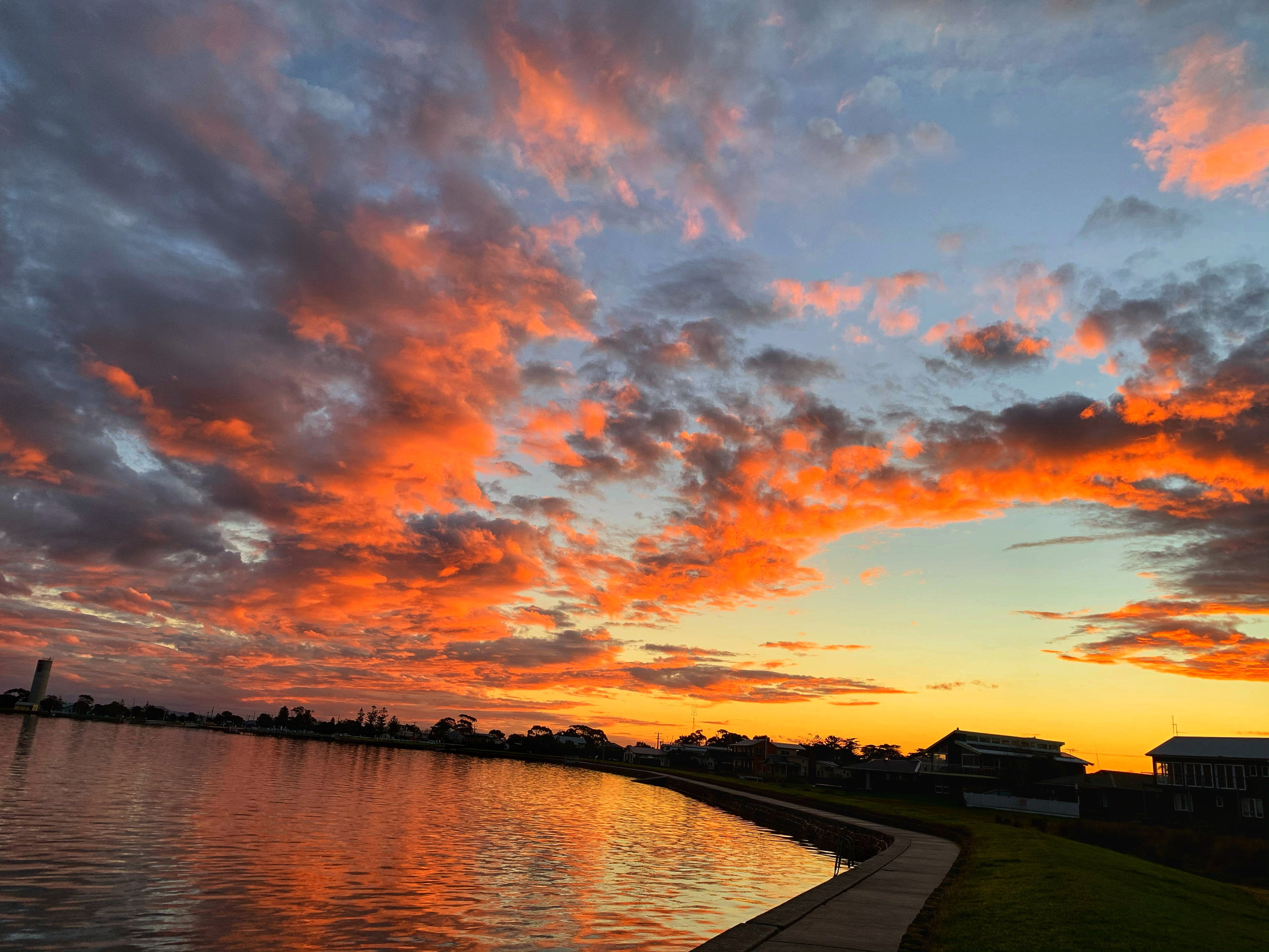 Stunning sunsets are part of the charm of Port Albert