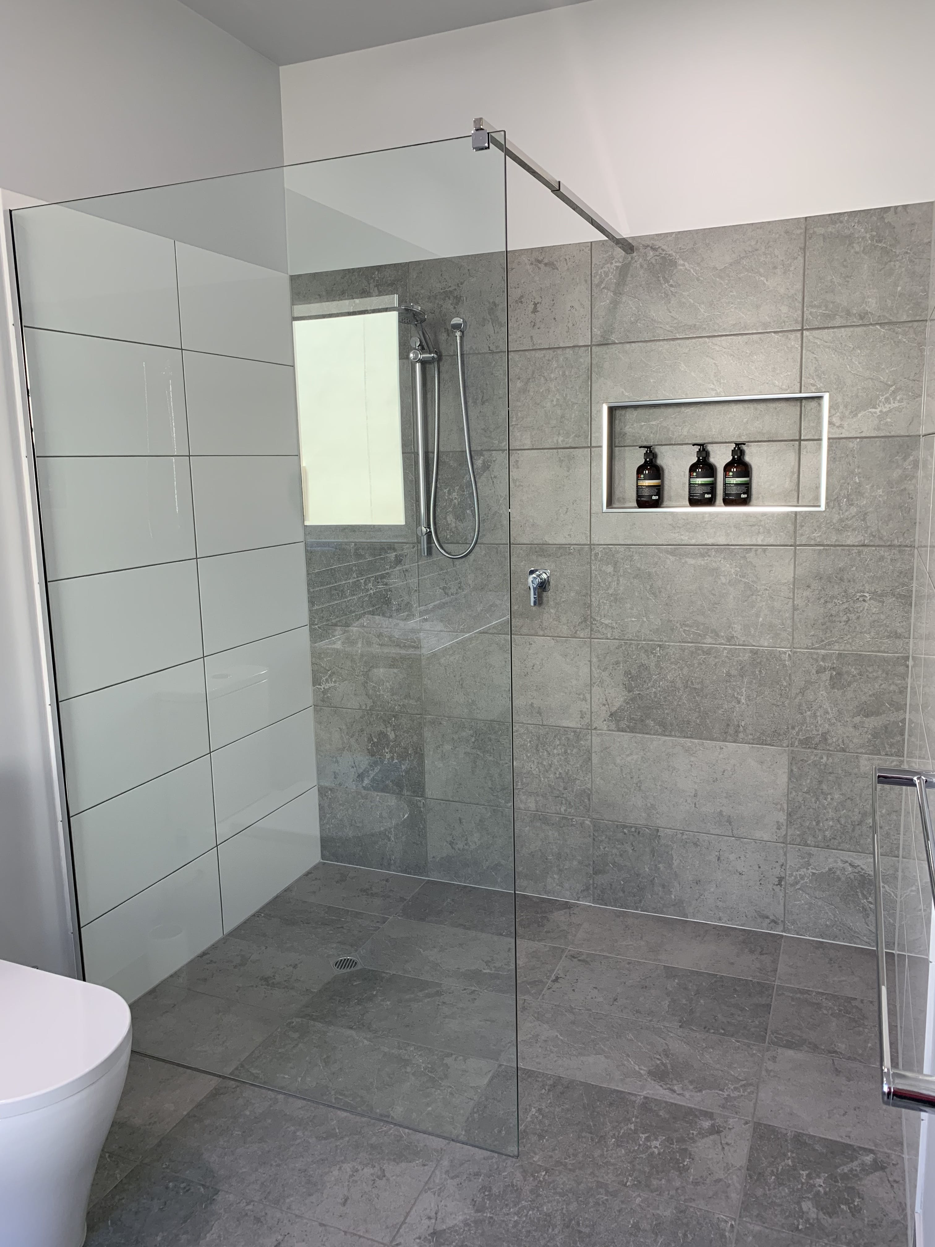 All of our studios feature an oversized walk-in shower