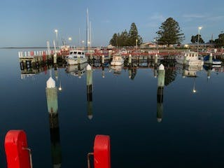 Port Albert Harbour, just across the road from Boat Harbour Jetty B&B