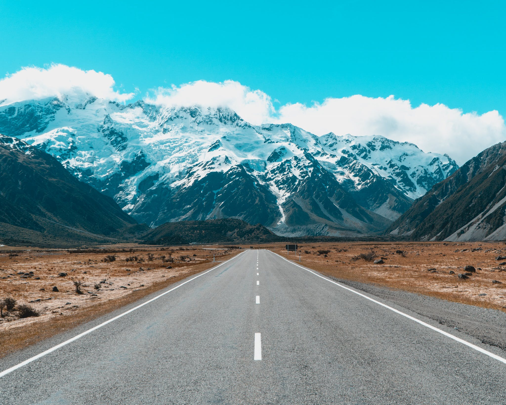 The road to Mount Cook / Aoraki