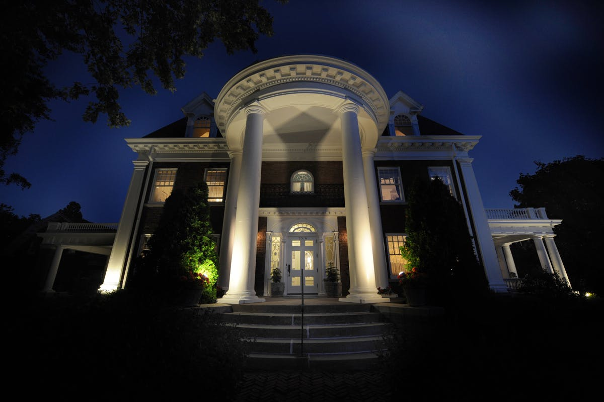 Olcott House Facade at night