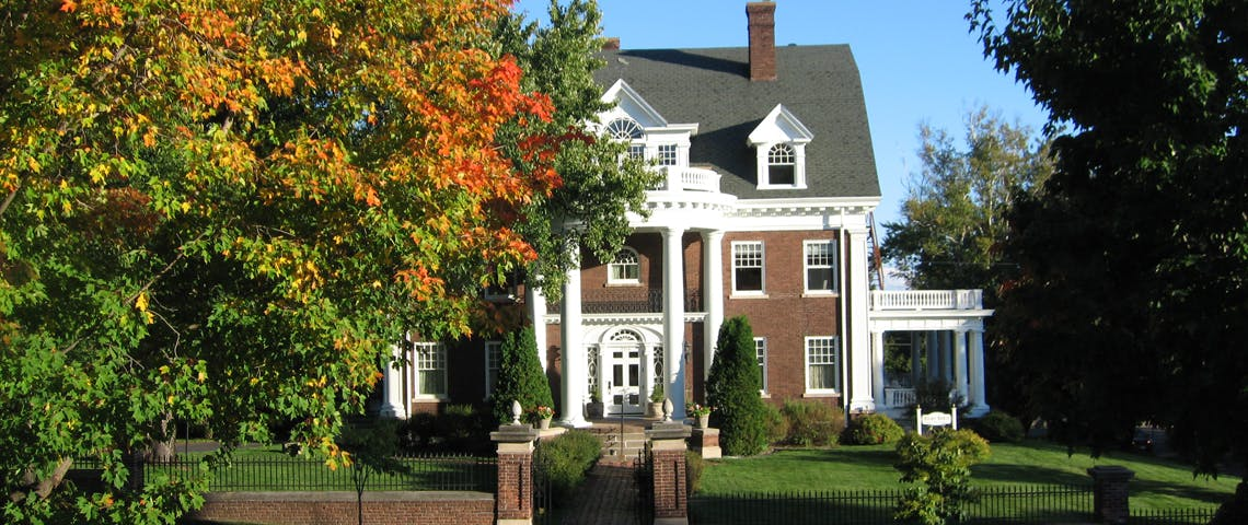 Olcott Hose exterior with Fall colors