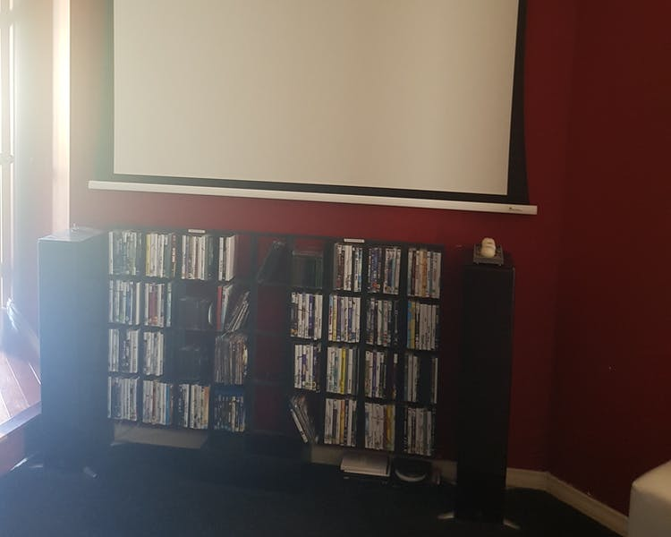Lots of DVD's for your enjoyment on the big screenn