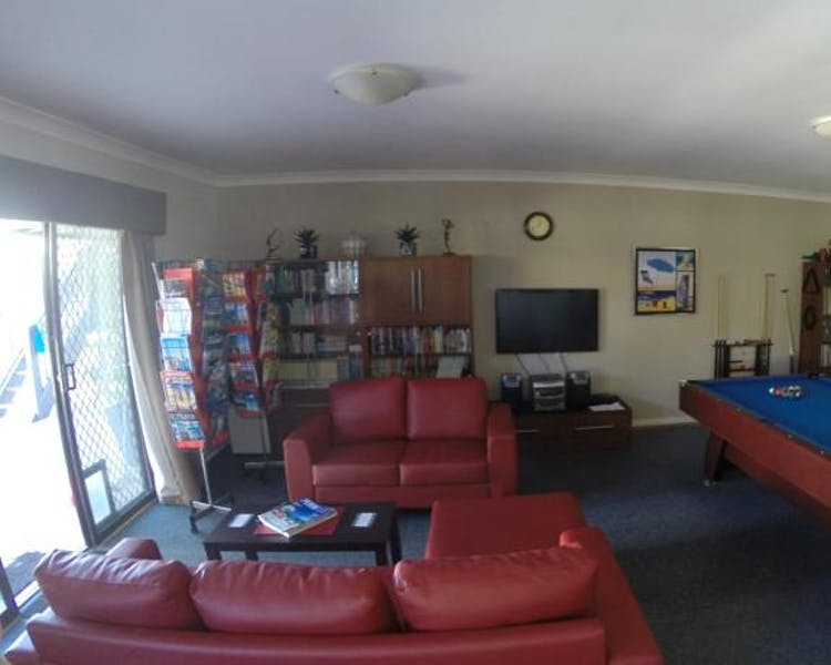 Family / Games Room with pool table television, dart board, books and board games