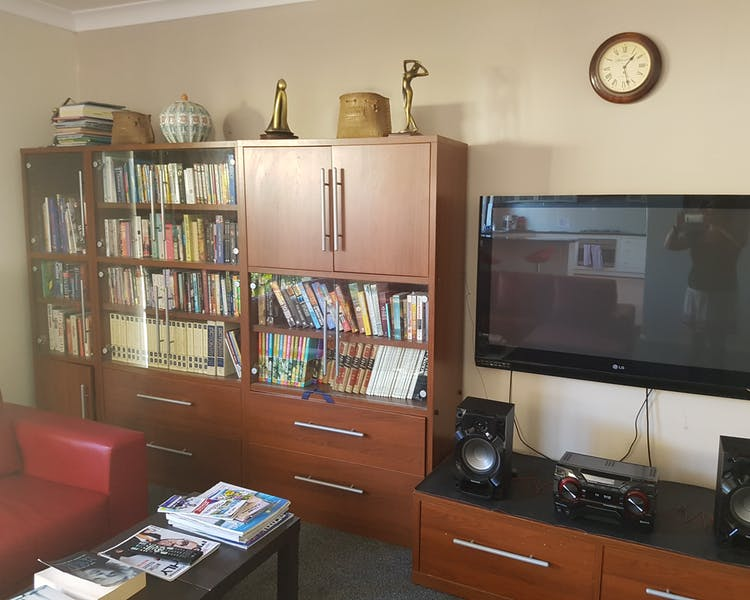 Television, stereo, books and games for your entertainment