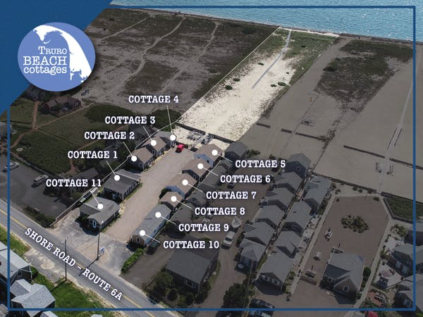 Truro Beach Cottages - Property Map