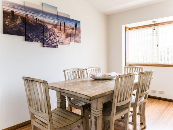Dining area with large dining table