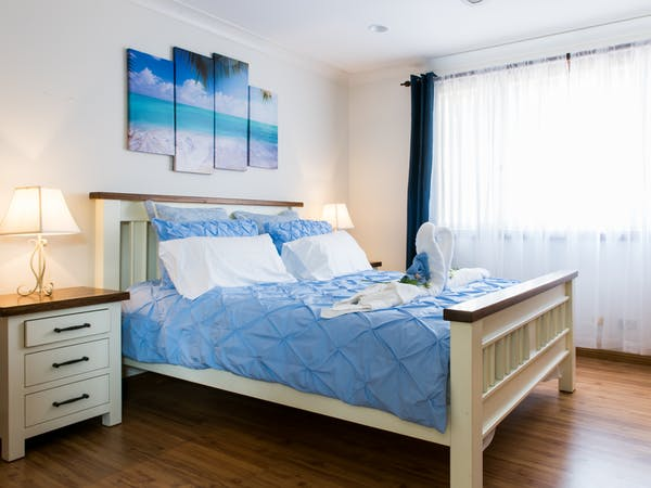 Master Bedroom with Queen Size Double Bed, plenty of wardrobe space and ensuite