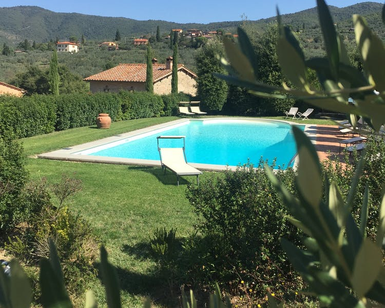 Casa Portagioia. Relaxation by the large, crystal clean pool...