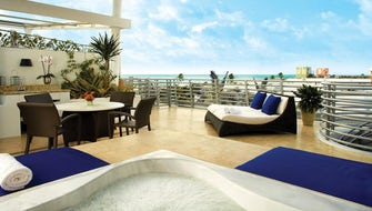 Penthouse King Spa Suite with Private Terrace and Ocean View