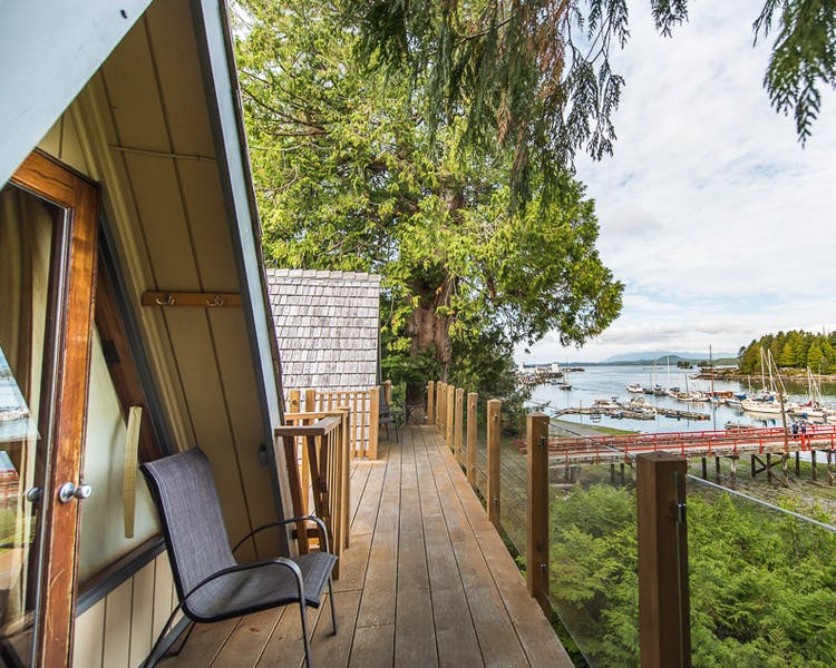 Waterfront views - The shoreline Tofino boutique hotel