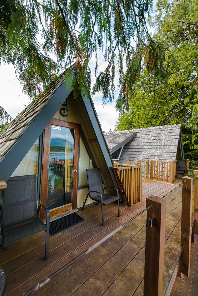Aframe cabin goals - The Shoreline Tofino boutique hotel