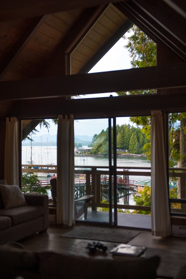 Waterfront views the shoreline tofino boutique hotel