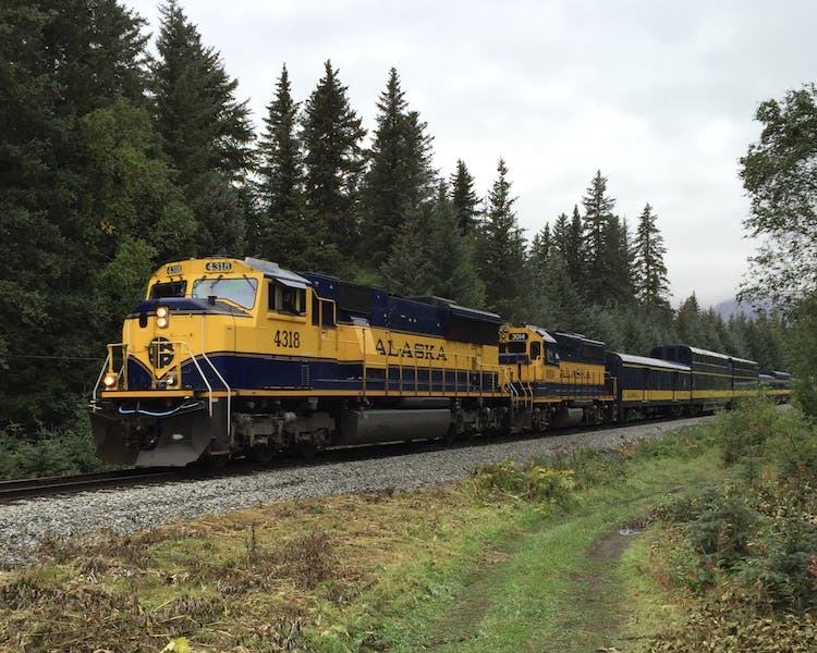 Alaska Railroad runs through the property