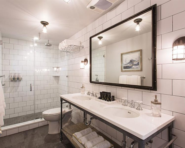 stylish bathrooms and rainfall showers in all rooms
