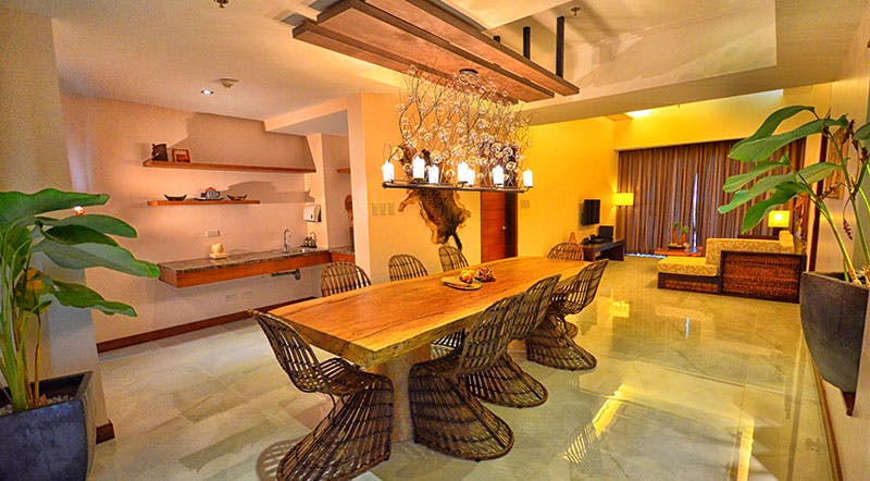 Native dining facilities at our Three Bedroom Luxury Suite!