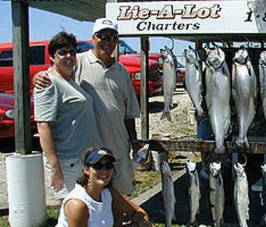 Ludington Area Charter Boats & Lake Michigan Charter Fishing - A good day's catch.