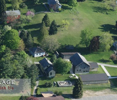 White Pine Historical Village Arial Picture.
