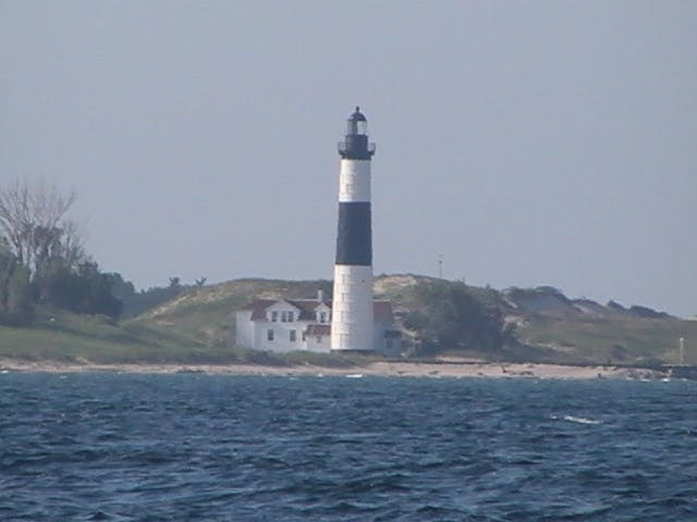 Big Sable Point Lighthouse seen from Lake Michigan