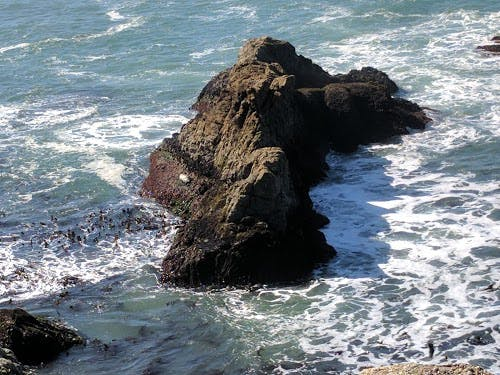 Pacific ocean, rock, water, hiking