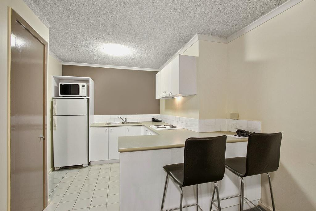 One Bedroom Apartment features a fully equipped kitchen , private laundry, spacious separate living and a dining area.